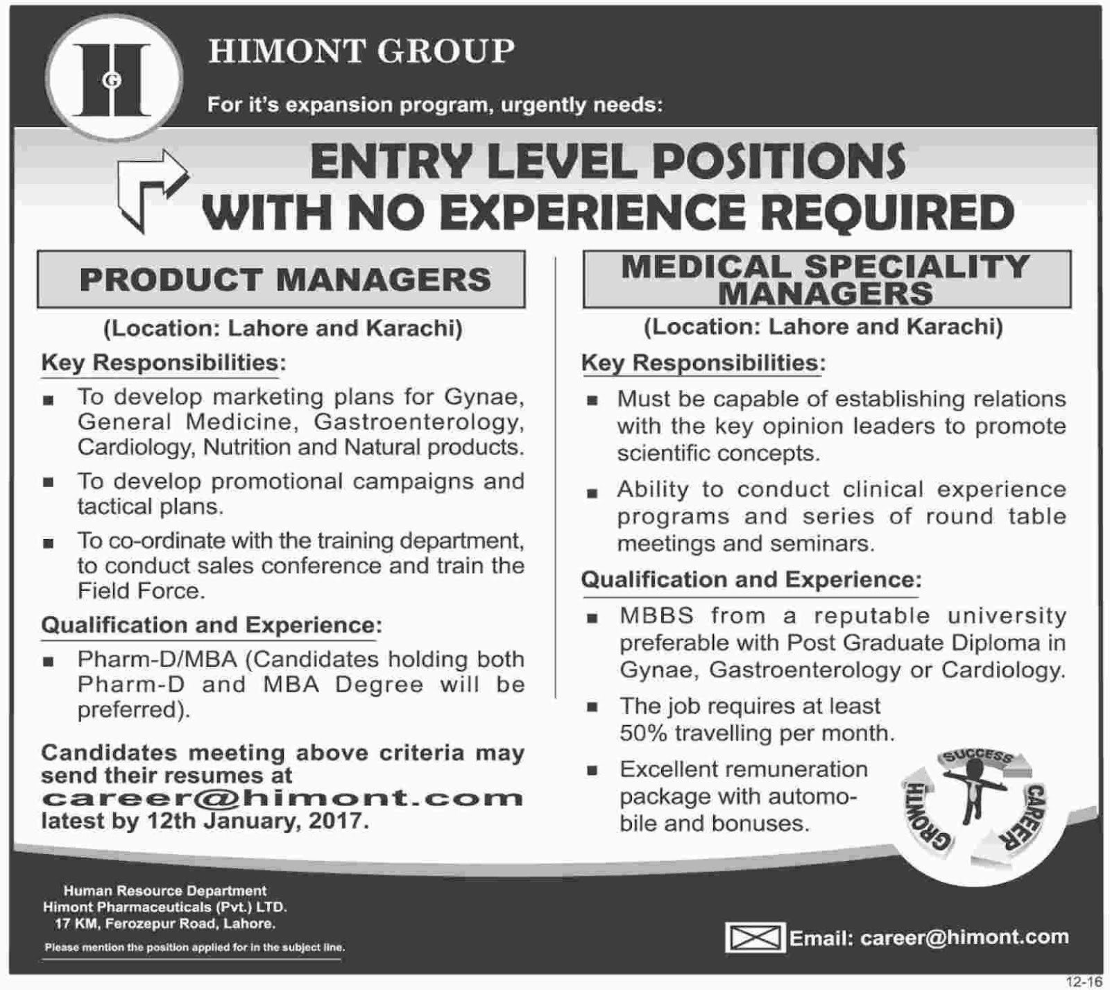 Product Manager, Medical Manager Jobs In Himont Pharmaceutical Pvt Ltd