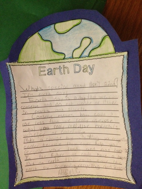 a paragraph on earth day
