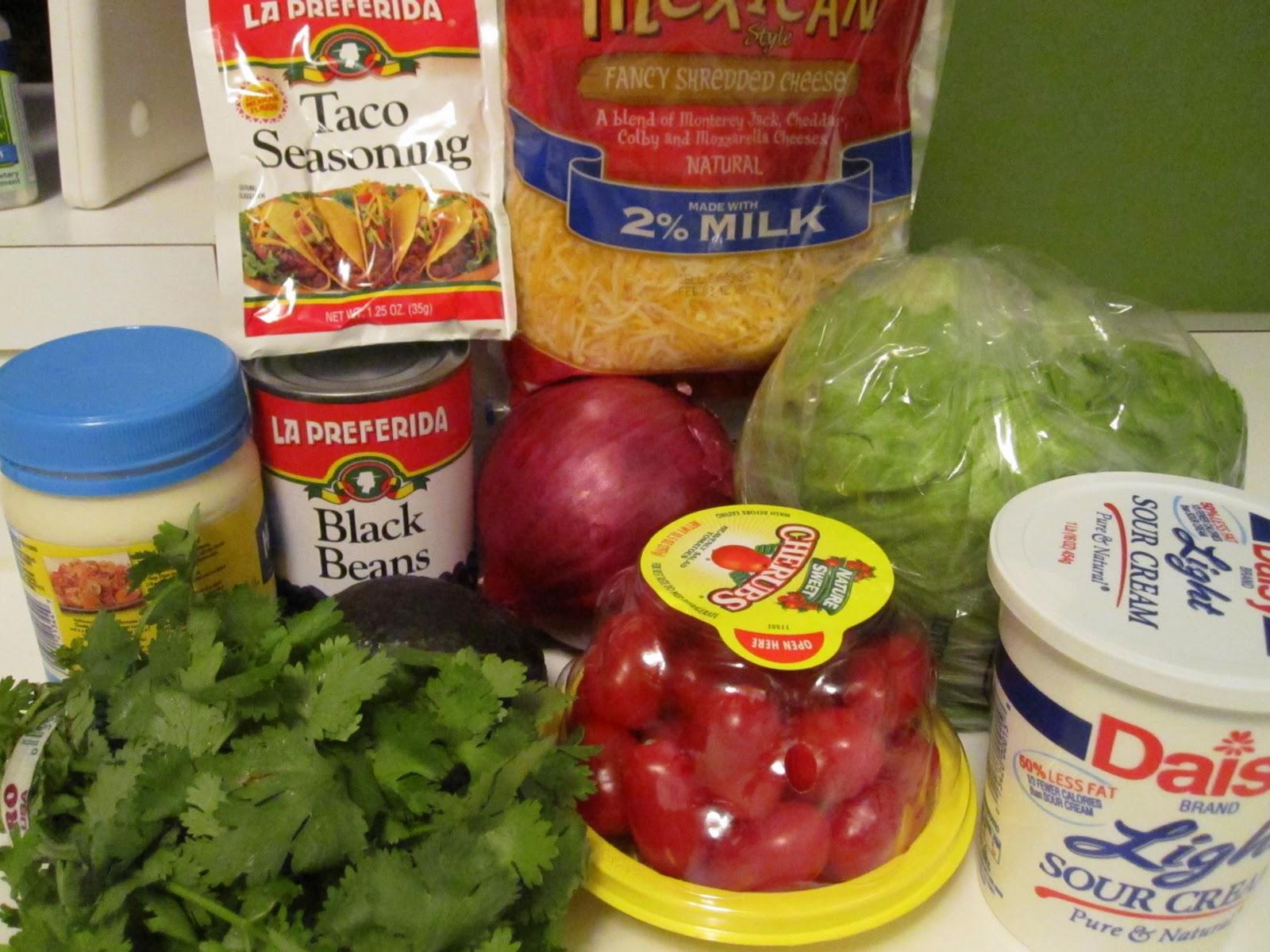 Elizabeth's Dutch Oven: Layered Tex-Mex Taco Salad