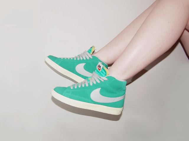Sammi Jackson - Atomic Teal Nike Blazers