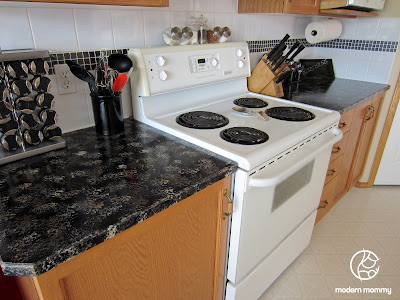 Modern Mommy: Home DIY Part 2: Granite Countertop Paint in the Kitchen