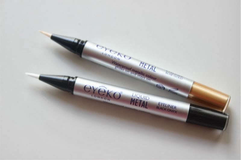 Eyeko Midnight Blue Black Mascara and Eyeko Liquid Metal Eyeliners