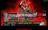 wwe 2K14 android menu
