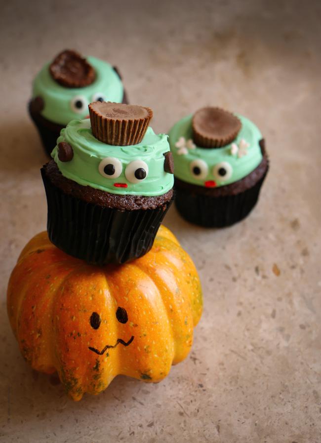 Cupcakes de Frankestein