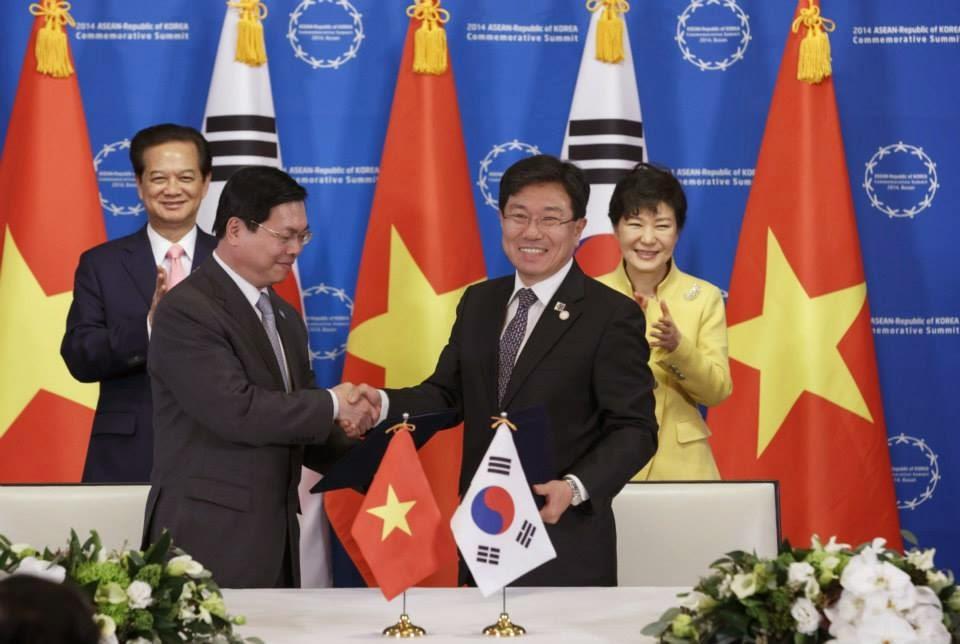 Ký kết giữa Việt Nam và Hàn Quốc