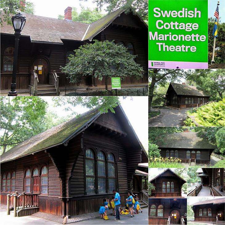 Paralelismo histórico Cabaña Sueca en el Central Park1876 y la Torre de Suecia de Barcelona de 1929
