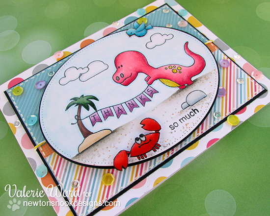 Dinosaur Thank you Card by Valerie Ward | Newton's Nook Designs