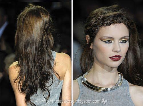 сплетен бретон и спусната коса
