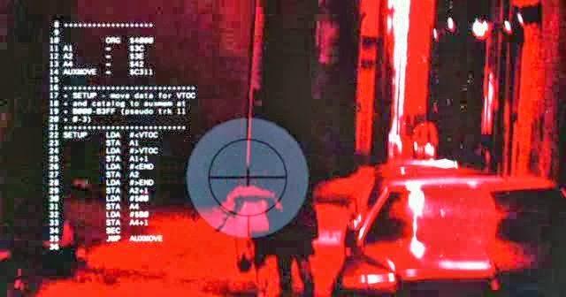 Терминатор в одноименном фильме Джеймса Кэмерона на самом деле смотрит на код для процессора 6502, используемого в компьютерах Apple II. Он был позаимствован из журнала Nibble.