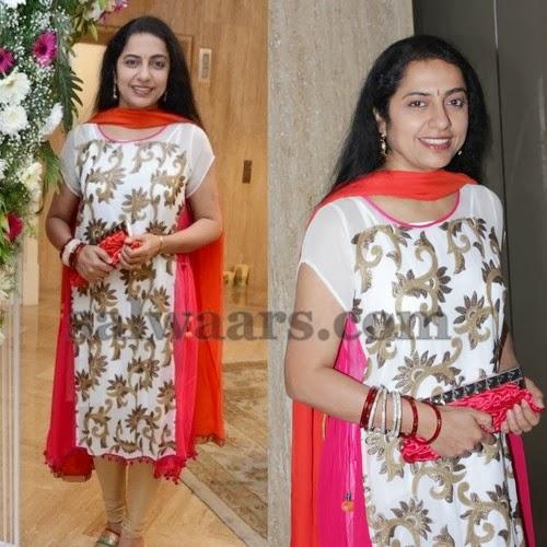 Suhasini Printed White Salwar