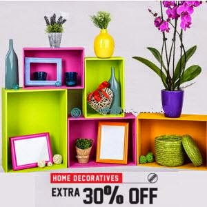 Snapdeal: Buy Home Decor upto 70% off + 10% off on Rs. 300, 30% off on Rs. 1299 and 5% off