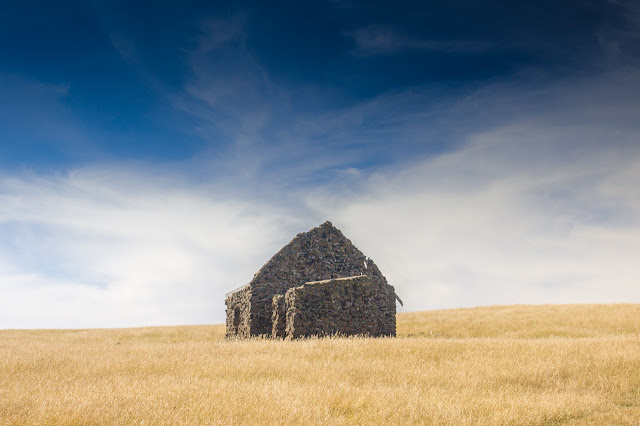 abandoned stone building on helens head phillip island