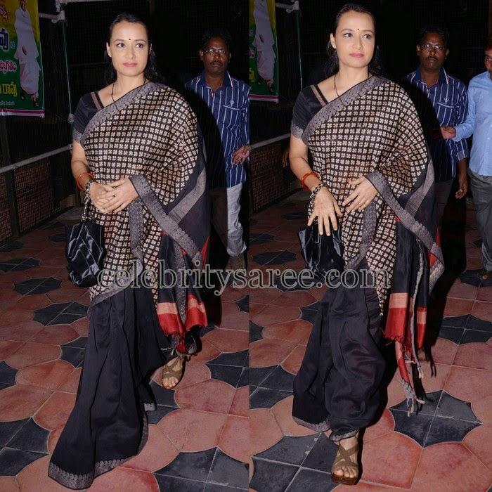 Amala Half and Half Black Saree