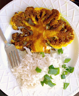 Curried Cauliflower Steaks Recipe, vegetarian alternative to steak night!