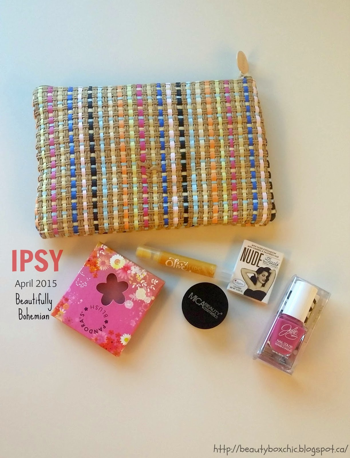 Ipsy Glam Bag April 2017 Beautifully Bohemian Monthly Beauty Subscription Box