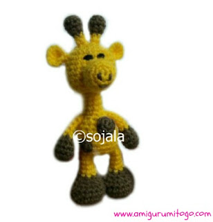 yellow crochet giraffe