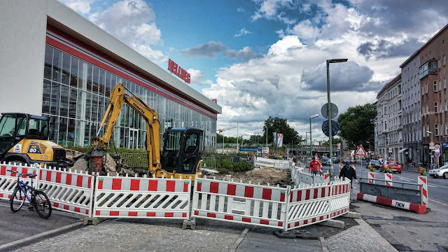 Baustelle Hellweg Baumarkt, Yorckstraße 38, U-Bhf., 10965 Berlin, 24.06.2014
