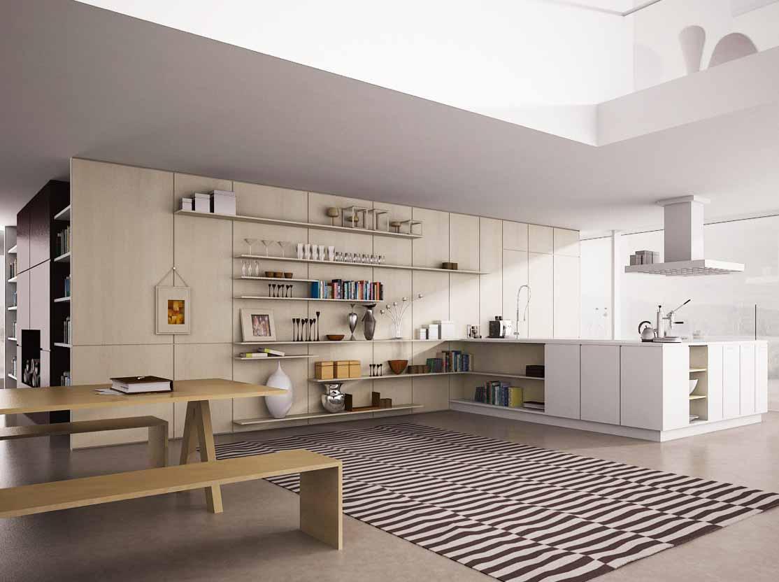desain rak dapur terbuka dan kabinet dapur modern info