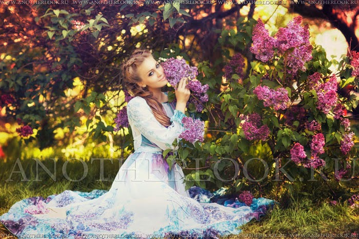 сиреневый сад фотосессия