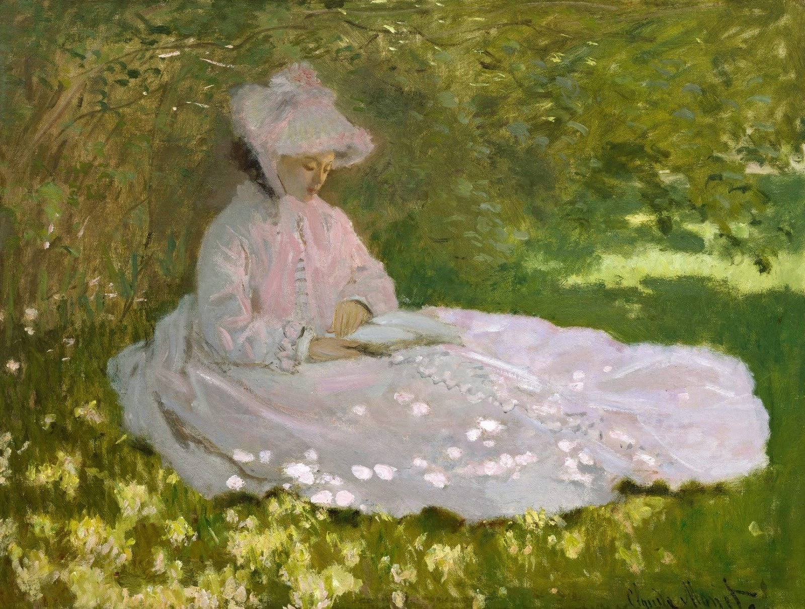 claude monet liseuse