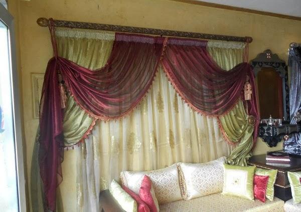 Décoration salon marocain: Rideau Marocain moderne 2014