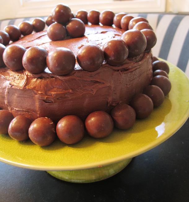 Claire Bock: Chocolate Malt Ball Cake