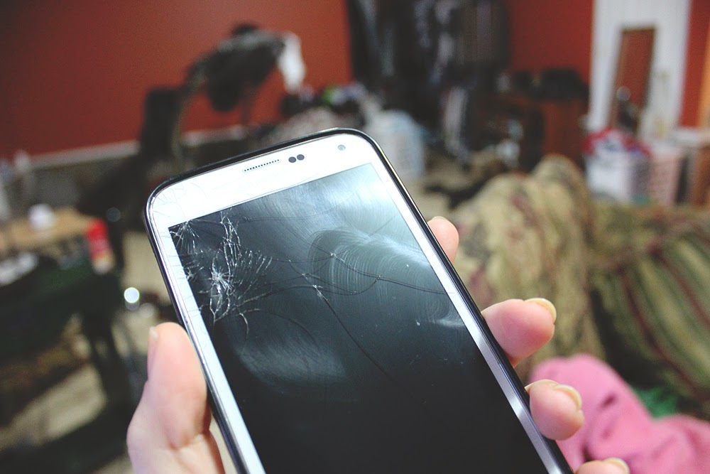 samsung galaxy s5, cracked screen, life blog