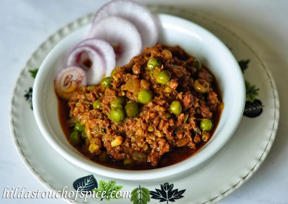Curried Beef Mince with Green Peas (Beef Kheema Matar) - Hilda's Touch ...