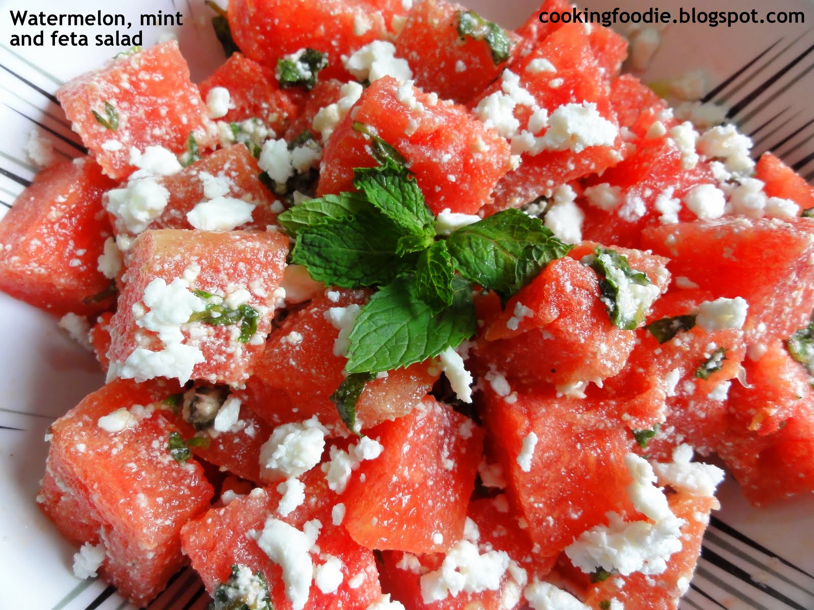 365 days of Eating: Watermelon, Mint and Feta Salad