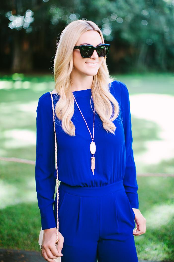 Bright Blue Jumpsuit | Dash of Darling | Bloglovin'
