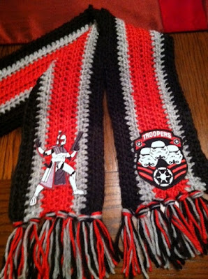 Knitting Pattern For Star Wars Scarf : Connies Spot? Crocheting, Crafting, Creating!: Star Wars Scarf & Dolls