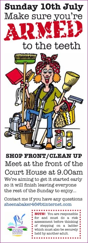 Clean up 10th July in the High Street