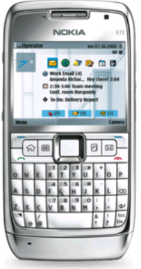 Nokia E71 Grey Steel: Blackberry-Designed Phone with High Quality Features