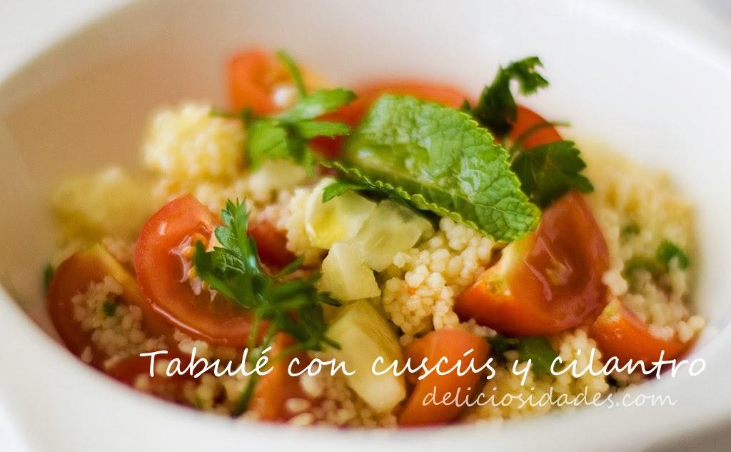 deliciosidades - tabulé con cuscús y cilantro