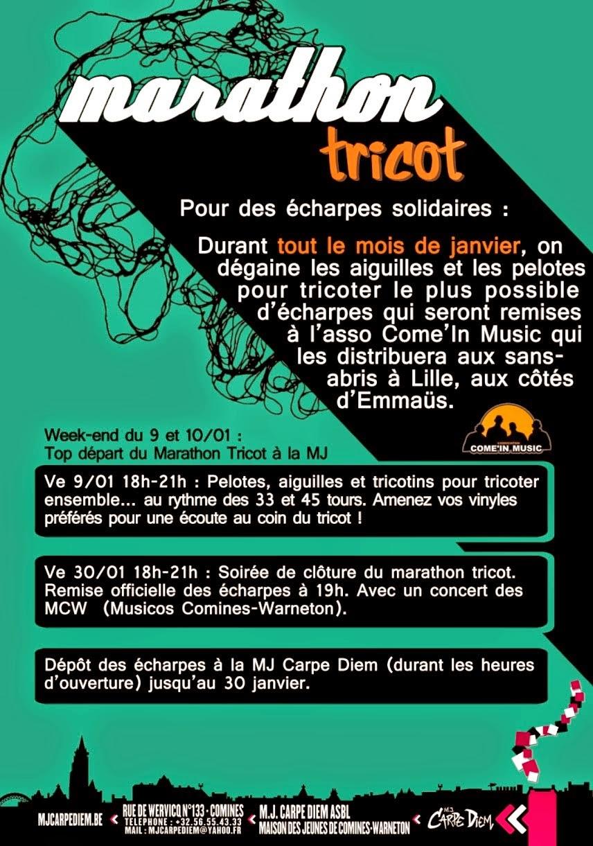 Marathon du tricot à partir du vendredi 9 janvier