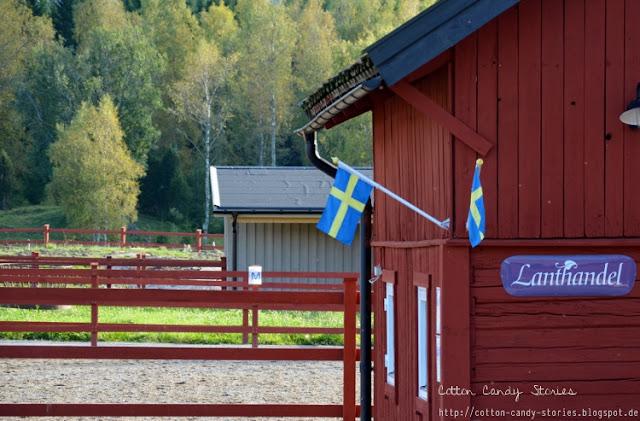 Rotes Holzhaus in Schweden