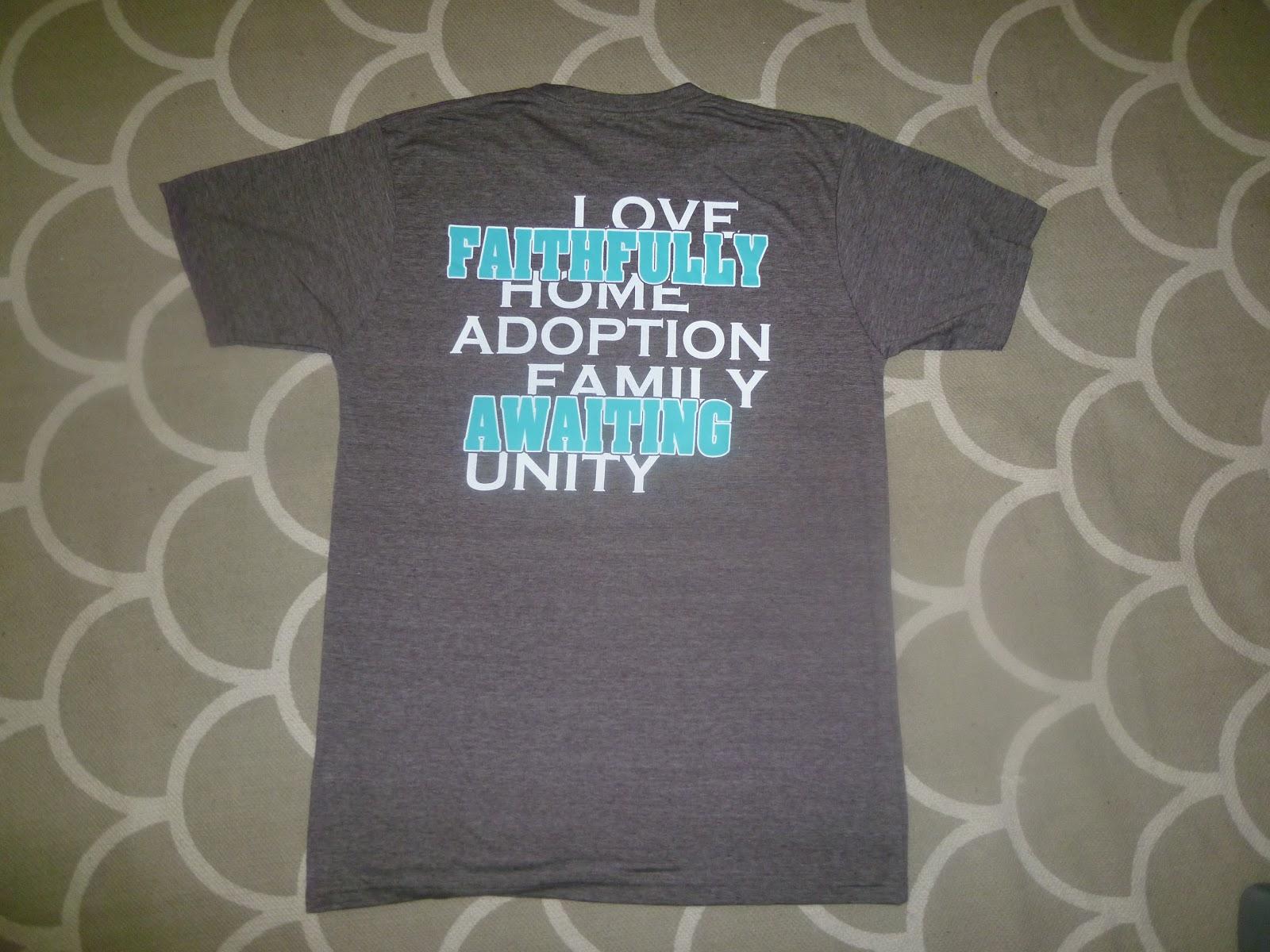 Faithfully awaiting fritzel number 4 successful for Adoption fundraiser t shirts