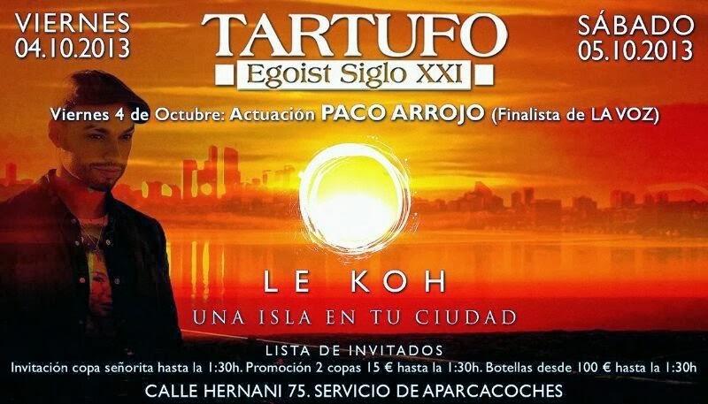 """TARTUFO CLUB: SÁBADO 5 DE OCTUBRE - LE KOH """"UNA ISLA PARA TU CIUDAD"""""""