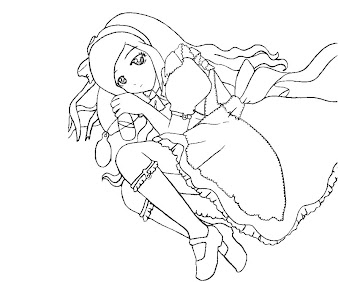 #5 Alice in Wonderland Coloring Page