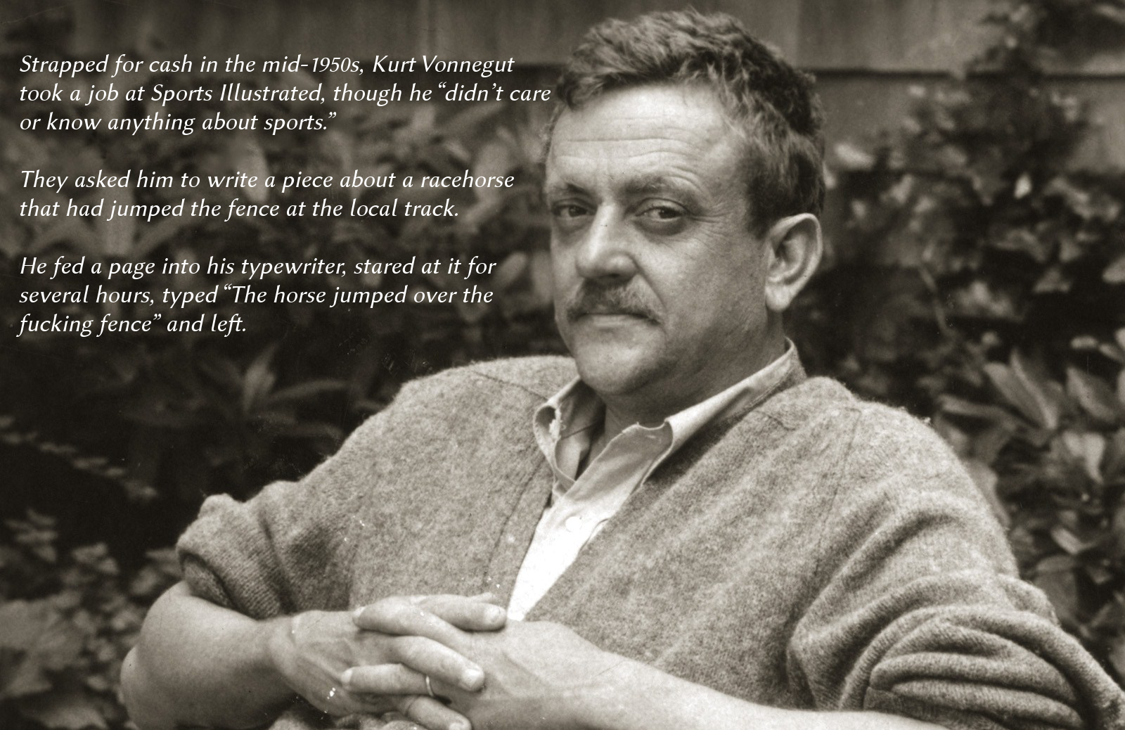 a biography of kurt vonnegut jr an american writer Kurt vonnegut jr was an extremely popular american writer of humor, science fiction novels and short stories his novels are known for their dark humor and playful use of science fiction, as well as for their serious moral vision and cutting social commentary kurt vonnegut was one of the most influential american writers and novelists of the.