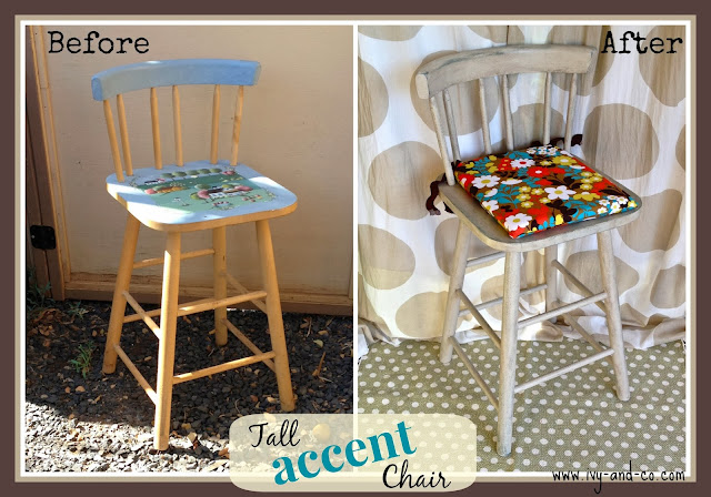 bistro chair makeover before and after