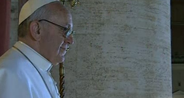 Bergoglio new Pope Francis on balcony profile