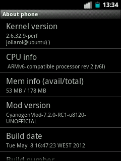 Update 28 Gingerbread ROM Android 2.3.7 CyanogenMod 7.2.0 RC1 by Joiloroi