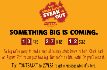 outback steakhouse free steak dinner