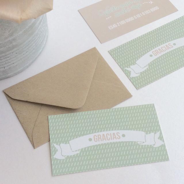tarjetas de agradecimiento para bodas
