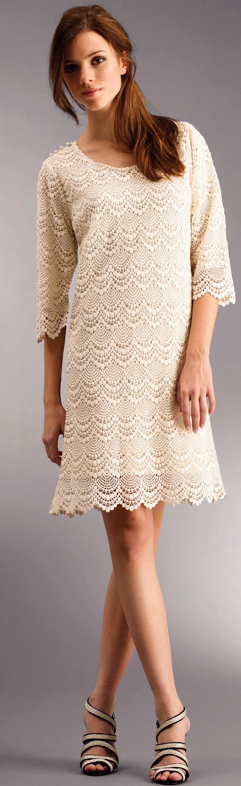 very interesting dress to crochet for ladies