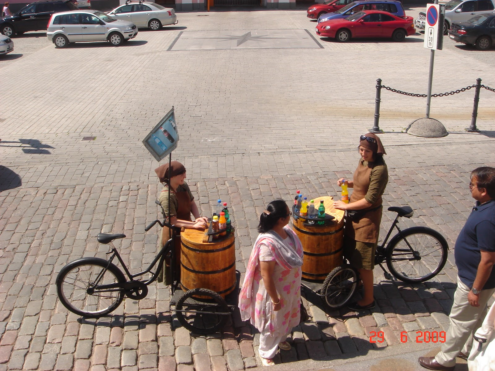Medieval style coke vendor in Old town Tallinn