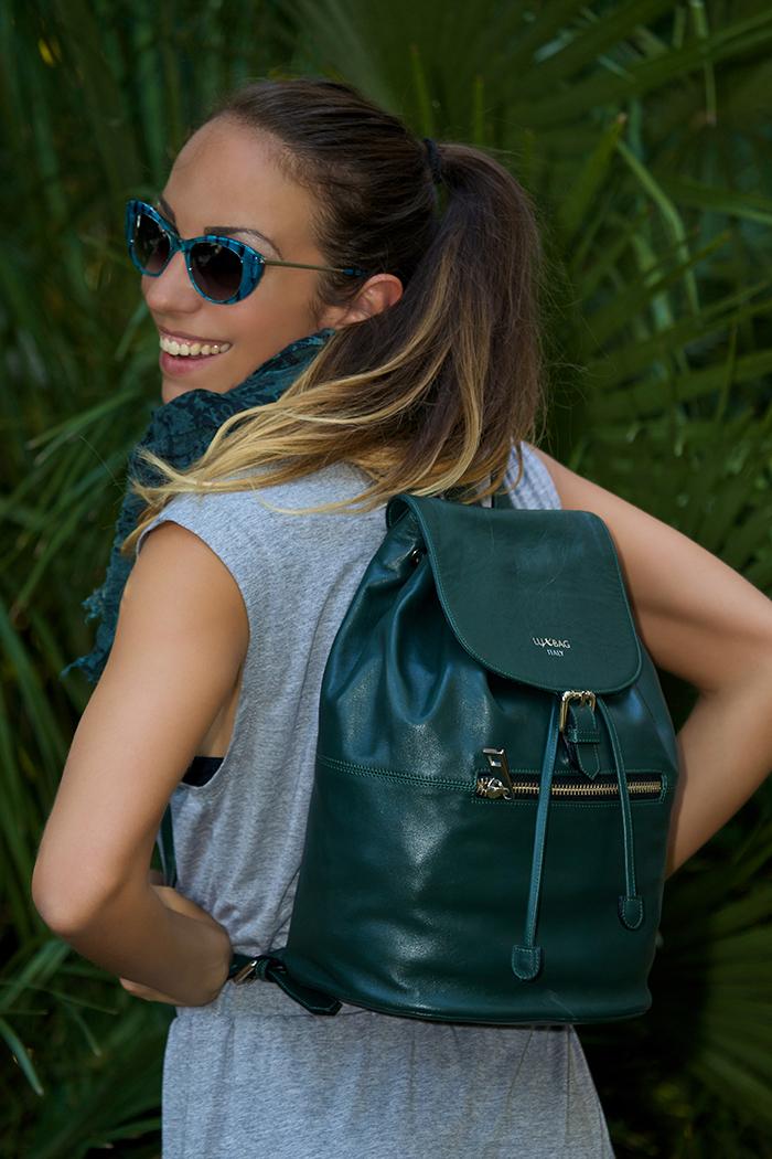 zaino verde lux bag