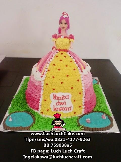 Kue Tart Princess Barbie Pink Daerah Surabaya - Sidoarjo