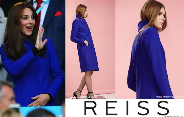 Kate Middleton Wore a Blue Reiss Emile coat